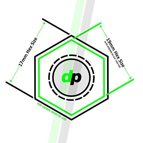 DPAccessories BS33K5HC-CH04020 20 Chrome 14x1.5B Spline Tuner Lug Bolts for Aftermarket Wheels - 33mm Shank Wheel Lug Bolt by DPAccessories (Image #5)