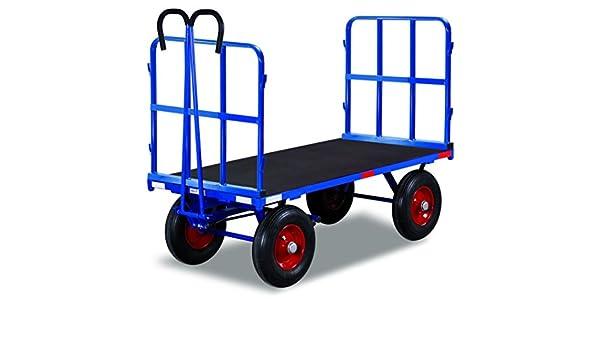 Mano camas carro con 2 Tubo rejilla paredes de carga (kg): 1000 ladefläche: 1140 x 800 mm RAL 5010 Azul genciana: Amazon.es: Bricolaje y herramientas