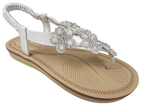 Savannah F0984 - Sandalias de Material Sintético para mujer plata
