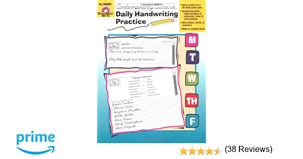 Amazon.com: Daily Handwriting Practice, Contemporary Cursive ...