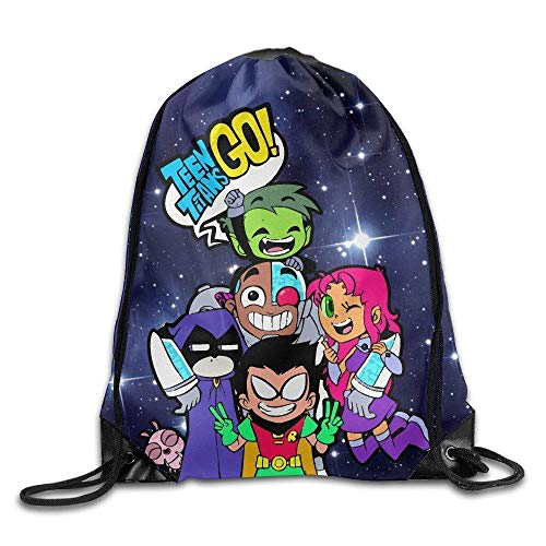 Teen Titans Go Comedy Adventure Drawstring Backpack Sack -