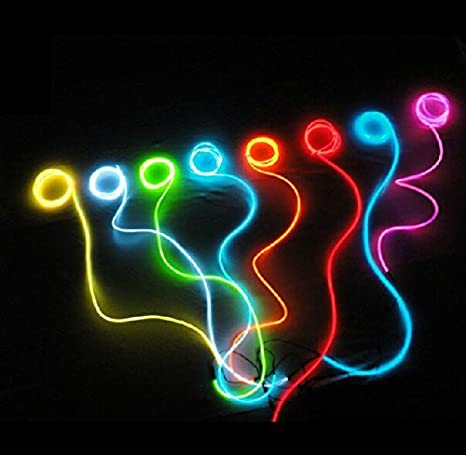 9ft Pink Neon Glowing Electroluminescent Wire (El Wire) Neon Light Wiring on