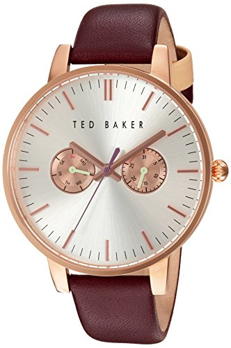 Ted Baker Women's 'Sport' Quartz Stainless Steel and Leather Dress Watch, Color:Red (Model: 10030748)