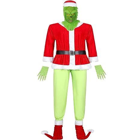 WBINGS Cosplay Disfraz/Traje de Navidad,Cosplay Papá Noel Navidad ...