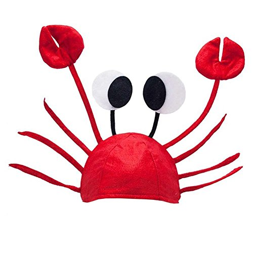 [Mimgo Store Halloween Christmas Cute Red Lobster Crab Hat Adult Fancy Party Costume Cap Gift] (Crab Costumes)