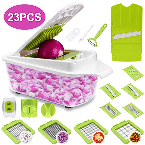 Sedhoom 23 in 1 Vegetable Chopper Food Chopper Onion Chopper Mandoline Slicer w/...