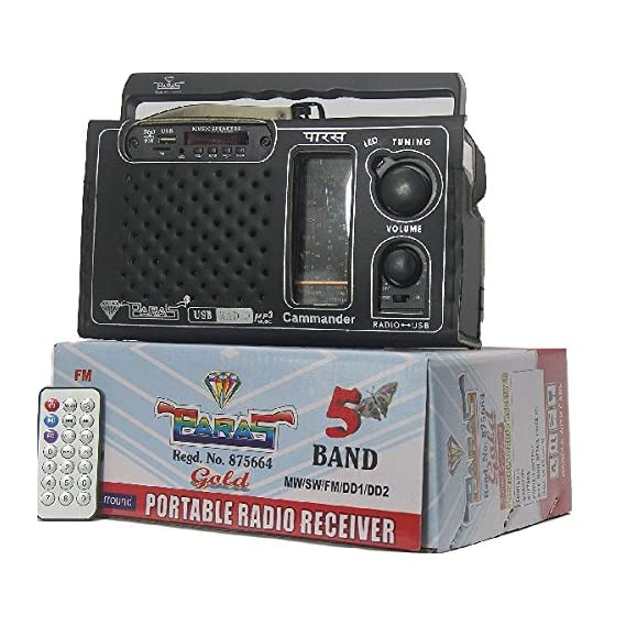 PARAS 5Band Gold USB Charging Radio
