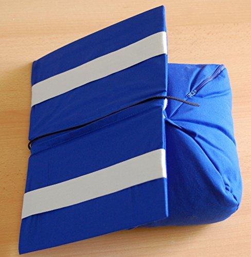 Bücherkissen blau Buchstütze