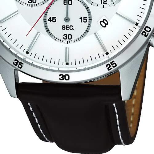 Pulsar klockor herrarmbandsur XL modern kronograf kvarts läder PT3007X1