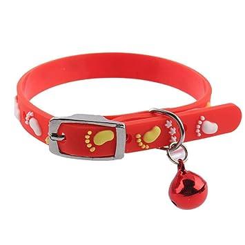 Dixinla Collar de Perro Gato de Imagen Placa Base Silicona Cinta Bell Collar, 30*.01cm: Amazon.es: Productos para mascotas