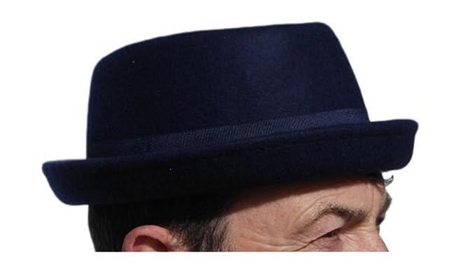 70e79d62d53 Rude Boy Ska Pork pie felt hat - Navy blue - Size 57cm (Medium ...
