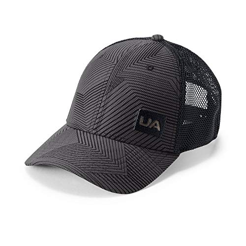 Mesh Adjustable Cap Trucker (Under Armour Men's Blitzing Trucker 3.0 Cap, Charcoal (019)/Black, One Size)