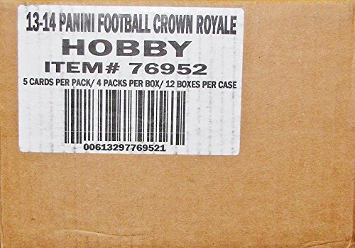 (Sports Memorabilia 2013 Panini Crown Royale Football Hobby 12-Box Case - Unsigned Football Cards)