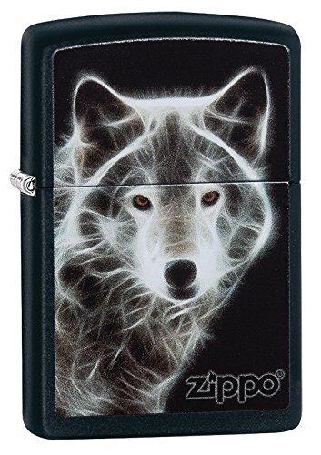 Zippo (28303) - White Wolf, Black Matte