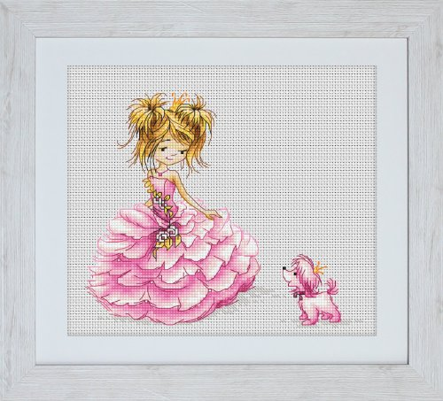 Luca-S 1-Piece The Princess Counted Cross Stitch Kit