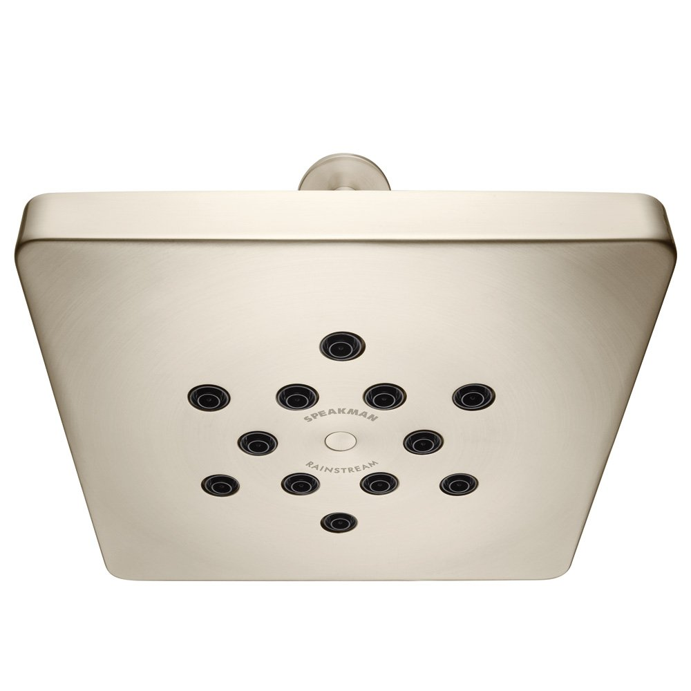 Speakman S-2761-BN Rainstream Modern Square Rain Shower, Brushed Nickel by Speakman [並行輸入品] B00DK8TRFS