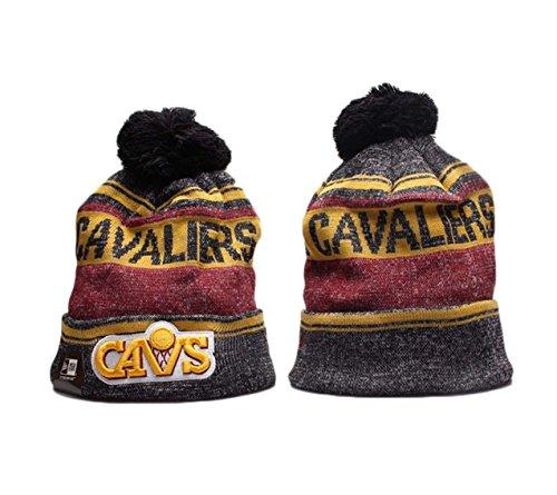 New Era Cleveland Cavaliers Grey Sport Beanie Wintry Pom Knit Skull Cap
