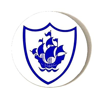 blue peter badge blue font button badge 38mm pin back lapel
