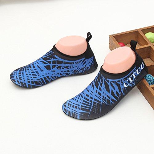 SexRt Männer und Frauen Mutifunctional Wasser Schuhe zum Schwimmen, Pool, Strand Blau