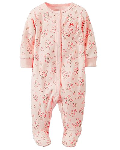 Kidsform Infant Baby Girl Boy Cotton Footed One Piece Rompers Bodysuits Jumpsuit Outfits 0215 12M