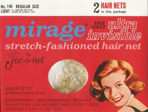 [Jac-o-net Mirage Ultra Invisible Hair Net Regular Size Light No. 146 2 Nets Per Package by Jac-O-Net] (Invisible Hair Net)