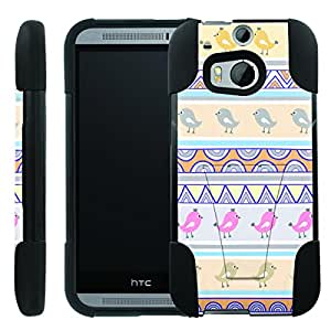 [ManiaGear] Rugged Armor-Stand Design Image Protect Case (Tribal Birds) for HTC One M8