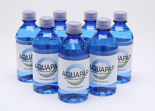 Aquapap CPAP water 7 x 12 ounce bottles 1 week supply (Best Distilled Water Machine)