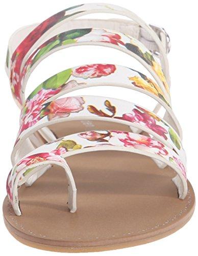 Madden muchacha Fonduee Sandalias planas White/Multi