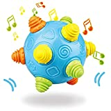 Efforty Baby Music Shake Dancing Ball Toy,BPA Free Bouncing Sensory Developmental Ball Boys and Girls