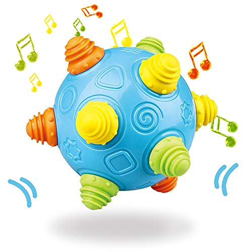 Baby Music Shake Dancing Ball Toy, BPA Free Bouncing Sensory Developmental Ball for Boys and Girls