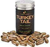 Turkey Tail Mushroom (Trametes Versicolor, Coriolus) Capsules, Immune Booster, Dual Extract, 30% Beta-D-Glucans For Sale
