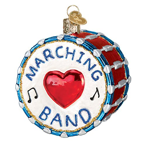 Band Instrument Glass Blown Ornament (Marching Band) (List Marching Band Instruments)