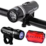 Divinext Waterproof Bright 5 Led Bike Bicycle Head & Rear Lights 6
