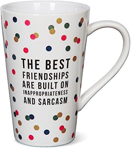 Pavilion Gift Company 75113 The Best Friendships Ceramic Mug, 18 oz, Multicolor