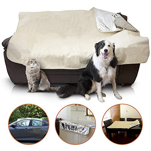Mosher Pets - Indoor Pet Repeller Furniture Training Mat - Keep Cats and Dogs Off The Couch, Pet Deterrent and Barrier For The Bed, Sofa, Car and Counter, Non Electric and does Not Shock Your Pet (Spikes Couch Pet For)