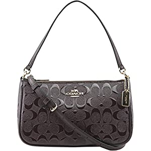 Coach Women's Signature Small Debossed Top Handle Crossbody Bag, Style F56518