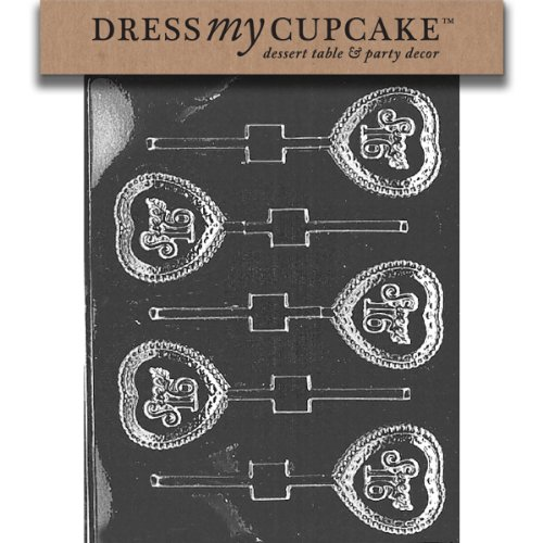 Dress My Cupcake Chocolate Candy Mold, Sweet 16 (Sweet 16 Candy Buffet)