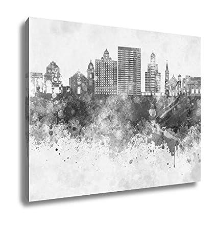 Amazon com: Ashley Canvas El Paso Skyline In Watercolor