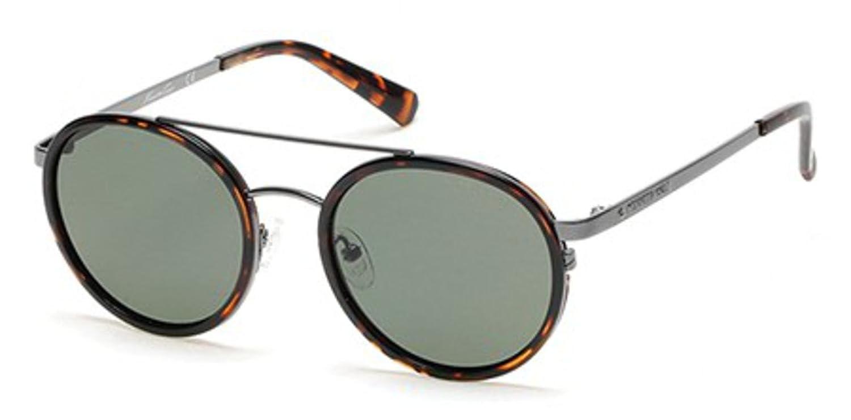 1dc9e609563 Sunglasses Kenneth Cole New York KC 7204 KC 7204 52R dark havana   green  polarized at Amazon Men s Clothing store