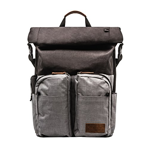 (Renwick Roll Top Backpack with Laptop Sleeve and Chord Organizer (Black))