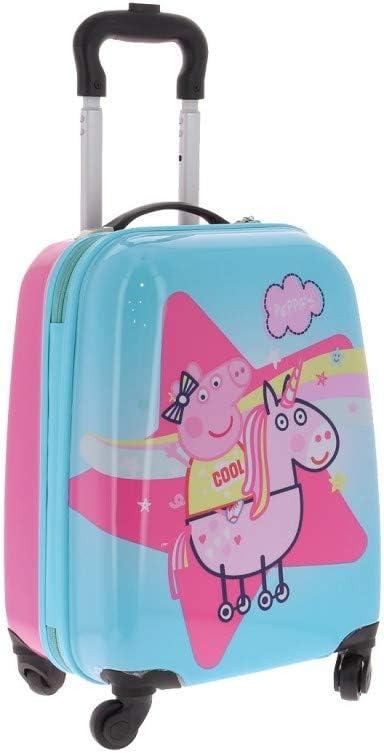 Valise Rigide 4 roulettes Peppa Pig sur Une Licorne Taille Unique Rose Peppa Pig
