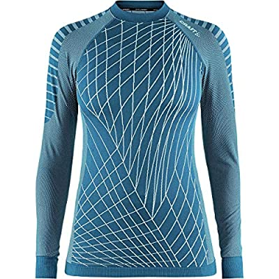 Craft Women's Active Running/Training Fitness Base Layer Long Shirt, Fjord, Small