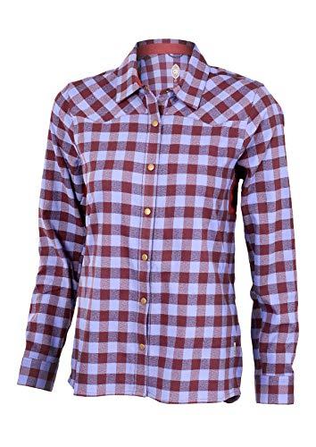 - Club Ride Liv'n Flannel Biking Jersey, Long Sleeve Cycling Shirt, Under Arm Vents, Moisture Wicking Fabric (Merlot, Large)