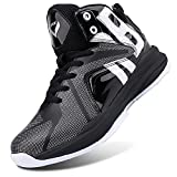WETIKE Boys Basketball Shoes Lace Up High Top Sneaker Outdoor Trainers for Unisex Kids Durable Sport...