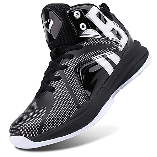 Jordan 5 Women Shoes - WETIKE Boys Basketball Shoes Lace Up High Top Sneaker Outdoor Trainers for Unisex Kids Durable Sport Shoes (Little Kid/Big Kid) Armor Black,5M US Big Child