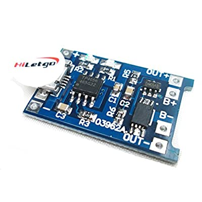 HiLetgo 5V 1A 18650 Lithium Battery Charging Board Micro USB Charge Module With Protect