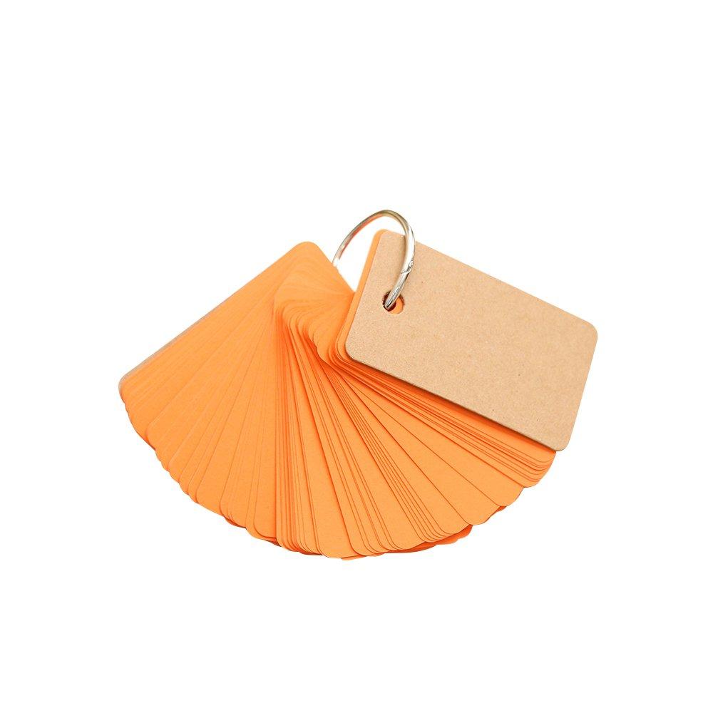 Gertong mini fibbia bianco carta kraft 90pagine a fogli mobili portatile memo notes per tutti out 90 sheets per pack Size: blue