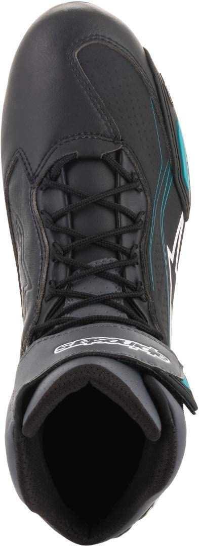 5 Alpinestars Womens Stella Faster-3 Motorcycle Shoes Black//Gray//Ocean