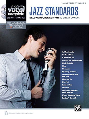 Jazz Sheet Vocal Music (Vocal Complete -- Male Voice Jazz Standards: Piano/Vocal Sheet Music with Orchestrated Backing Tracks, Book & 2 Enhanced CDs)