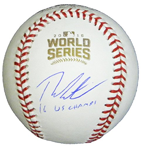 Schwartz Sports Memorabilia EPSBSB101 Theo Epstein Signed Rawlings Official 2016 World Series Baseball with 16 WS Champs